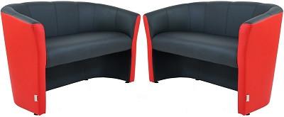 Диван двухместный Бум черно-красный - картинка