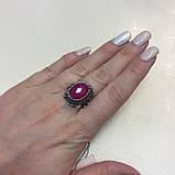 Кольцо рубин в серебре 16,5-17 размер Индия! Кольцо с рубином., фото 2