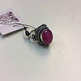 Кольцо рубин в серебре 16,5-17 размер Индия! Кольцо с рубином., фото 4