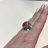 Кольцо рубин в серебре 16,5-17 размер Индия! Кольцо с рубином., фото 3
