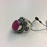 Кольцо рубин в серебре 16,5-17 размер Индия! Кольцо с рубином., фото 5