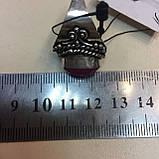 Кольцо рубин в серебре 16,5-17 размер Индия! Кольцо с рубином., фото 7