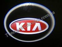 KIA/ Киа Красные Врезные проекторы логотипа автомобиля в двери