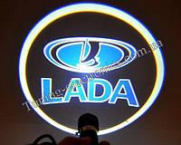 LADA/ Лада-Ваз Синие Врезные проекторы логотипа автомобиля в двери