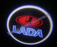 LADA/ Лада-Ваз Красные Врезные проекторы логотипа автомобиля в двери