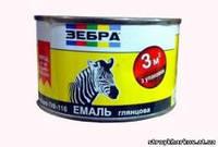 Краска-эмаль алкидная 0,25кг ПФ-116 ЗЕБРА Красная №75