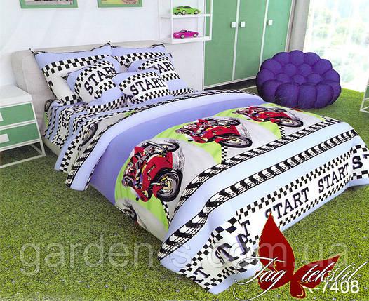 Комплект постельного белья Мотоциклы ТМ TAG 1,5 спальный комплект, фото 2