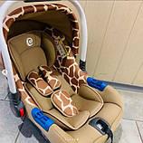 Автокресло для новорожденных EL Camino Жираф от 0 до 13 кг, фото 5