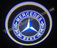 MERCEDES/ Мерседес Врезные проекторы логотипа автомобиля в двери