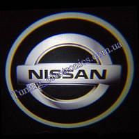 NISSAN / Ниссан  белые Врезные проекторы логотипа автомобиля в двери