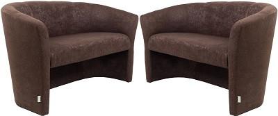 Диван двухместный Бум коричневый - картинка