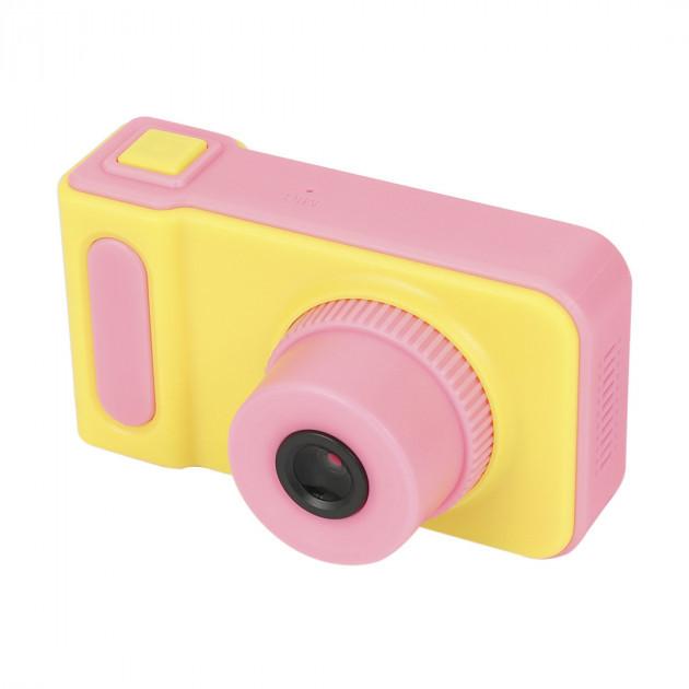 Детская цифровая камера T1 Smart Kids Mini Camera фотоаппарат Yellow/ Pink
