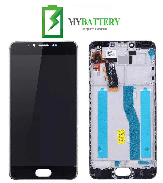 Дисплей (LCD) Meizu M5 (M611)/ M5 mini с сенсором черный + рамка