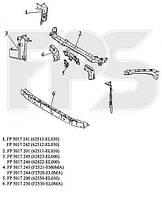 Панель передняя средняя (вертикальная часть) Nissan Tiida 05- (FPS)