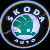 SKODA/ Шкода Врезные проекторы логотипа автомобиля в двери