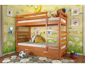 Двухъярусная Деревянная кровать Рио Сосна 80х190 см. Arbor Drev