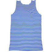 Тельняшка майка короткий рукав (сине-белая) 48 размер 020316-092