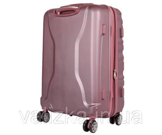 Валізу з ударостійкого поліпропілену маленького розміру для ручної поклажі Airtex 628 рожевого кольору., фото 2