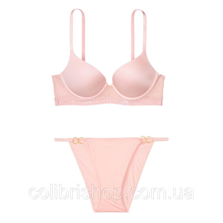 Нежный розовый комплект белья от Victoria's Secret  34D+ S