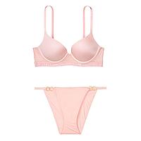 Нежный розовый комплект белья от Victoria's Secret  34D+ S, фото 1