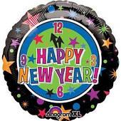 Шар фольга Новый год Часы №1 1202-3126