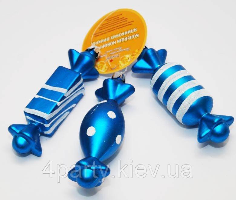 """Ёлочная игрушка """"Конфетка"""" 3шт. 040316-078"""