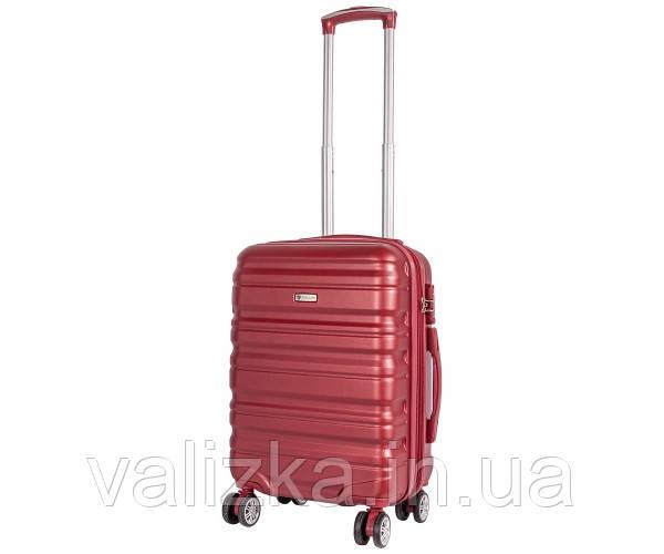 Чемодан из ударопрочного полипропилена пластиковый большого размера на 4-х колесах Airtex 628 красного цвета.