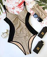 Купальник женский KARELLE's сдельный XL пудра-черный (90XL)
