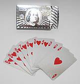 Карты игральные серебрянные (доллары) 110316-347