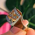 Женское кольцо из лимонного золота - Женское кольцо желтое золото, фото 7
