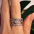 Женское кольцо из лимонного золота - Женское кольцо желтое золото, фото 4