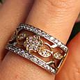 Женское кольцо из лимонного золота - Женское кольцо желтое золото, фото 3