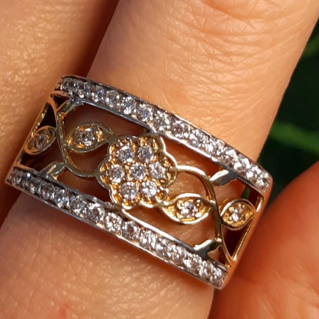 Женское кольцо из лимонного золота - Женское кольцо желтое золото