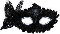 Маска венецианская бабочка (черная) 240216-191