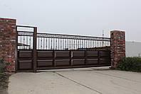 Консольные ворота 5000, 2200 и калитка 1000, 2200, фото 3