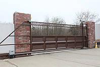 Консольные ворота 5000, 2200 и калитка 1000, 2200, фото 2