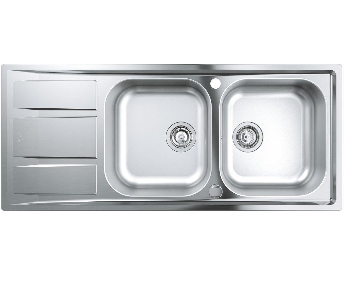 Кухонная мойка Grohe EX Sink 31587SD0 K400 двойная с крылом