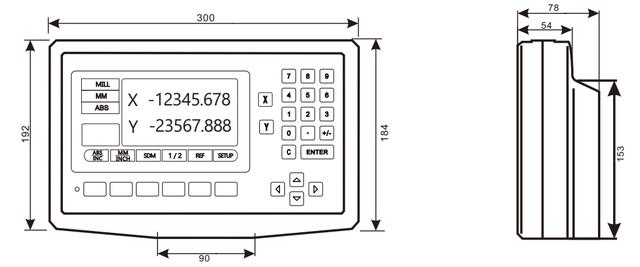 Двухкоординатное устройство цифровой индикации DS50P-2V