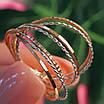 Золотое кольцо Неделька - Женское золотое кольцо без камней, фото 6
