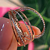 Золотое кольцо Неделька - Женское золотое кольцо без камней, фото 5
