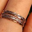 Золотое кольцо Неделька - Женское золотое кольцо без камней, фото 4