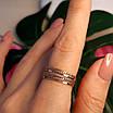 Золотое кольцо Неделька - Женское золотое кольцо без камней, фото 2