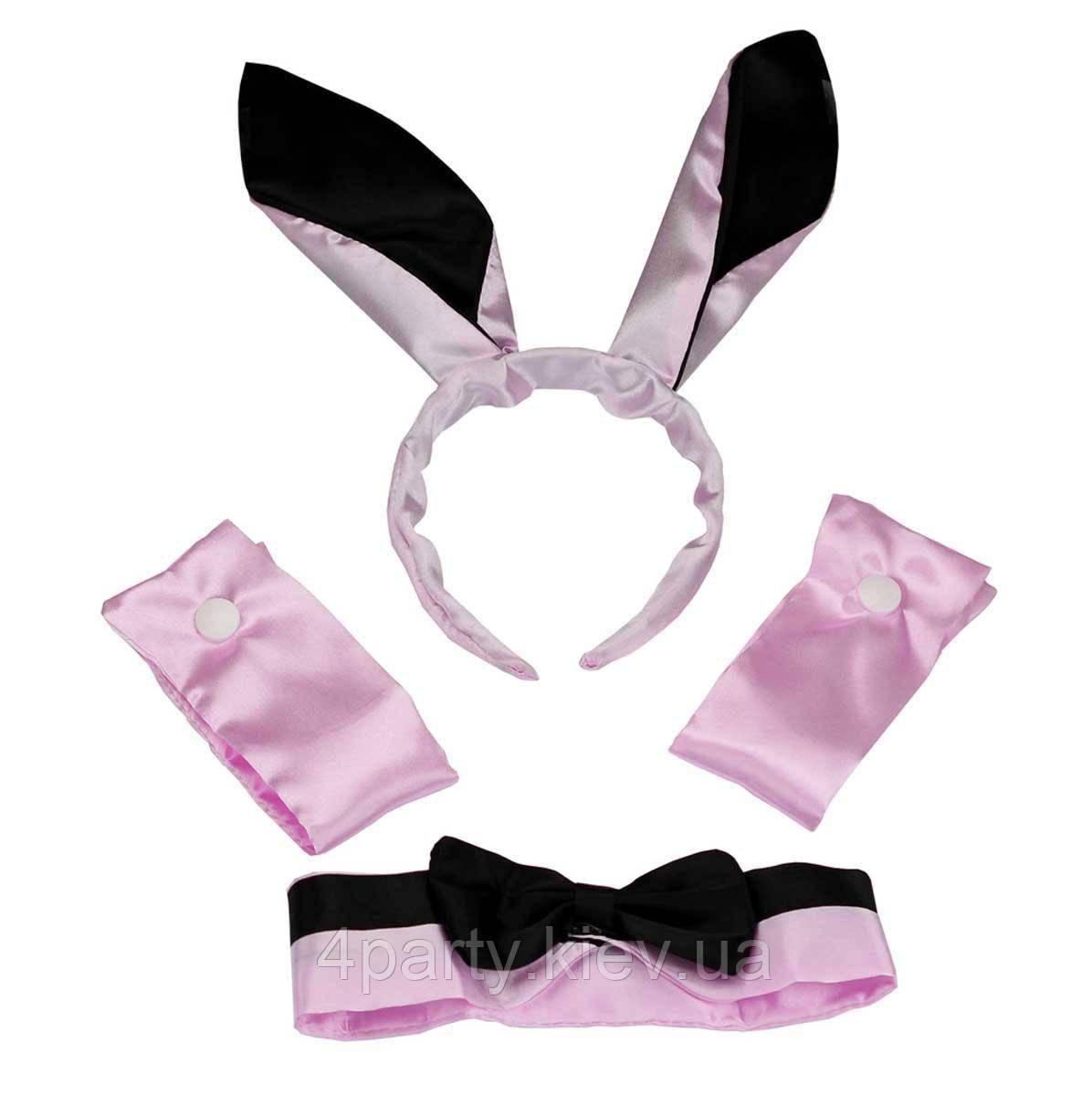 Набор Плейбой черно-розовый 250216-375