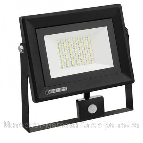 """Прожектор светодиодный led 50w с датчиком """"PARS/S-50"""" 6400K"""