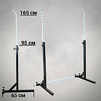 Лавка регульована для жима зі Стійками. Штанга пряма, w-подібна та гантеліі 70 кг, фото 4