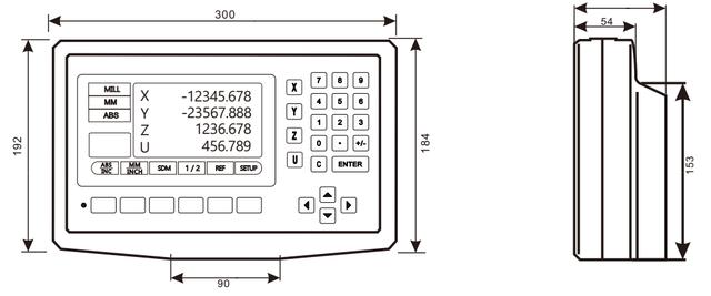 Трехкоординатное устройство цифровой индикации DS50P-4V