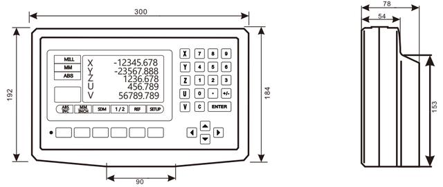 Трехкоординатное устройство цифровой индикации DS50P-5V