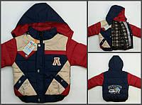 Куртка А неон 2-4 мал. крас+син. весна-осень,холлофайбер велсофт подклада 0028 Китай XL(104)(р)