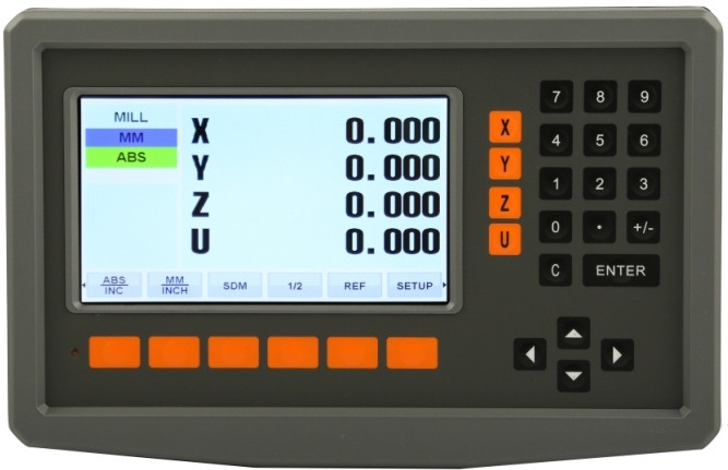 Устройство цифровой индикации Delos 4 оси 5 вольт LCD дисплей DS50P-4V