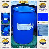 0481/1: Бочка (200 л.) б/у пластиковая ✦ Аммоникс (лаурамин оксид), фото 1